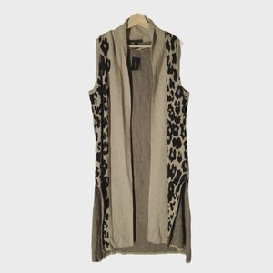 Lane Bryant Cheetah Cardigan/duster Plus Size